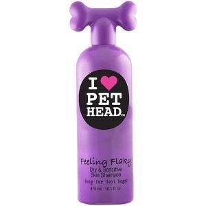 Pet Head Feeling Flaky - Shampoing réhydratant peau sensible pour chien