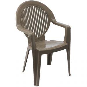 Grosfillex Fidji 2 - 4 fauteuils de jardin monobloc en résine