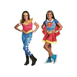Rubie's Déguisements Wonder Woman + Supergirl DC Super Héro Girls