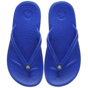 Crocs Crocband Flip, Tongs Mixte Adulte, Bleu (Bright Cobalt/White 4kg), 37/38 EU