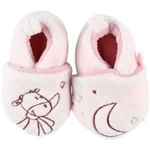 Noukie's Chaussons Lola Smart Girl veloudoux rose (6-12 mois)