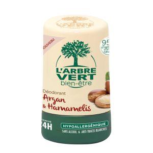 L'Arbre Vert Déodorant Hypoallergénique Au Parfum Argan & Hamamélis
