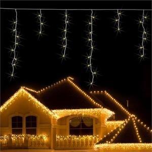 Blumfeldt Dreamhouse Snow - Guirlande lumineuse de Noël 160 LED effet neige blanc chaud (8m)