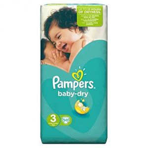 Pampers Baby Dry taille 3 Midi 4-9 kg - Géant x 50 couches