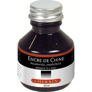 Herbin Flacon d'encre de Chine 50 ml noire