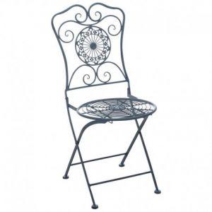 Aubry Gaspard Chaise de jardin pliante en métal