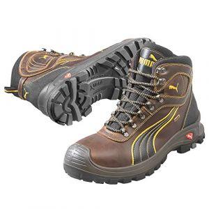 Puma Safety Chaussure de sécurité de chantier, S3 HRO, brune, , 630220, Taille : 47