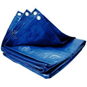 Majuscule Bache polyethylene 5X4m bleu