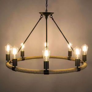 Globo Suspension LED ronde Ulleu à huit lampes