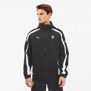 Puma Blouson en sweat Ferrari avec capuche pour Homme, Noir, Taille L, Vêtements