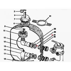 Procopi 422032 - Joint torique de bague de filtre Triton (66 x 5 mm) (les 2)
