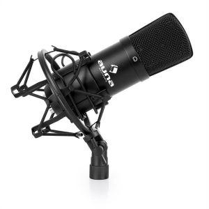Auna CM001B - Micro à condensateur XLR pour enregistrement voix studio