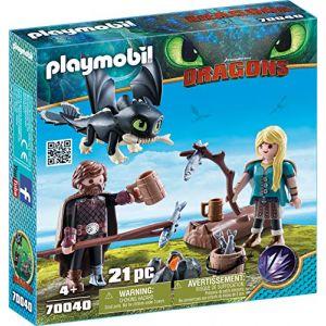 Playmobil 70040 Dragons - Harold et Astrid avec bébé dragon