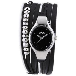 OPEX Paris 2341F1 - Montre pour femme avec bracelet en cuir Filante