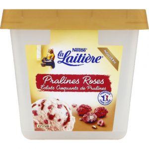 La laitière Crème glacée pralines roses éclats croquants de pralines - Le bac de 430 g