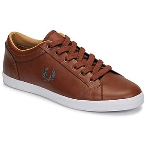 Fred Perry Baskets basses BASELINE LEATHER Marron - Taille 40,42,43