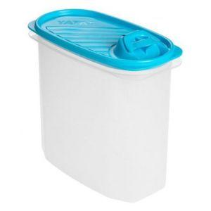 Tatay 1164200 Boîte de Conservation avec Bec Verseur Ovale 2 L Plastique Bleu 18,5 x 10 x 19,5 cm