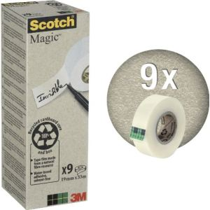Scotch 9 rouleaux adhésifs Magic Ecologique invisible (19 mm x 33 m)