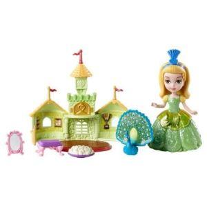 Mattel Princesse Amber et Praline le Paon dans son château