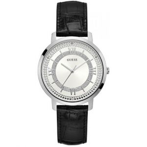 Guess W09341 - Montre pour femme avec bracelet en cuir