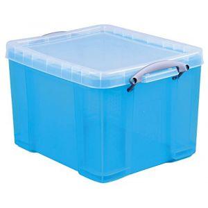Really useful box 35TBBCB - Boîte de rangement en plastique 35 litres, en PP recyclé bleu