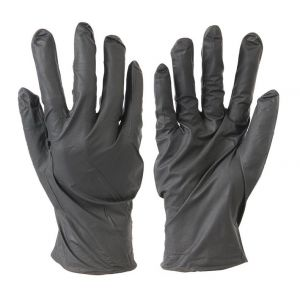 Silverline 100 gants nitrile non poudrés jetables Noir Medium
