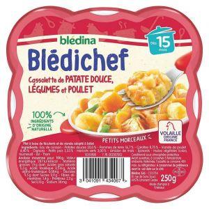 Blédina BLEDICHEF Patate douce légumes et poulet 250g