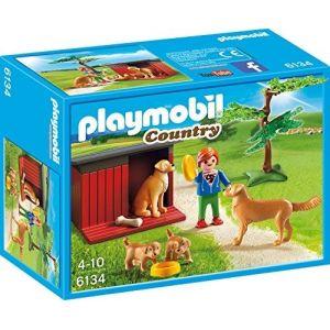 Playmobil 6134 Country - Golden Retriever avec chiots