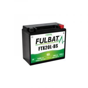 Fulbat Batterie moto WPX20LBS / YTX20L-BS / BTX20L étanche au gel 12V / 18Ah