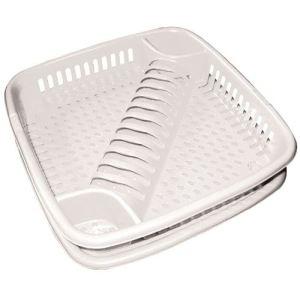 Eda Plastiques Egouttoir à vaisselle en vaisselle avec plateau