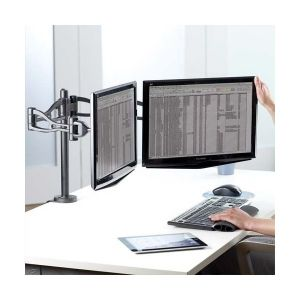 Fellowes 8041701 - Bras d'écran Professional Series, pour 2 écrans à l'horizontal