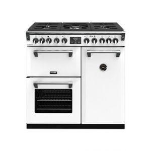 Stoves PRICHDX90DFICY - Richmond Deluxe 90 cm gaz blanc - Piano de cuisson