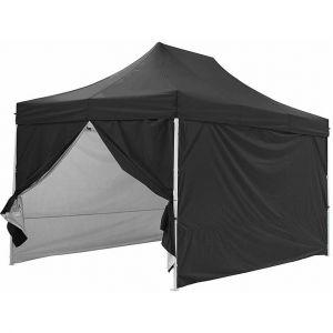Greaden Tente pliante noire avec 4 murs amovible 3x4,5m PREMIUM LIGHT - Tube