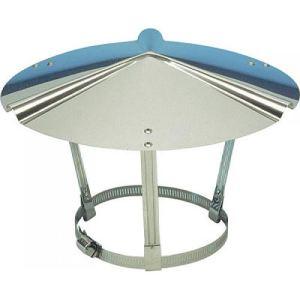 Ten 000002 - Chapeau inox chinois de toiture 120 à 140 mm