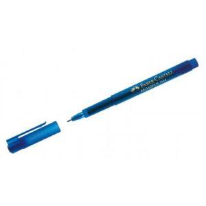 Faber-Castell 155451 - Feutre d'écriture Broadpen 1554, trait de 0,8 mm, encre bleue