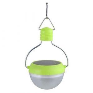 Galix Lampion solaire plastique - Vert - Lampion solaire à suspendre - En plastique - Puissance : 0,135W - Hauteur : 14,5cm - Diamètre : 7,3cm - Vert.
