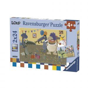 Ravensburger Puzzle Puzzle 2x24 P - Le Loup Qui Fêtait Son Anniversaire
