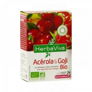 Herba Viva Acerola Goji Bio - 24 comprimés