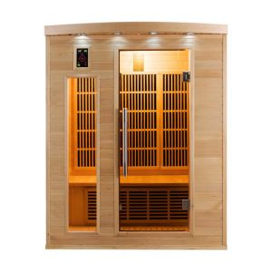 Image de France Sauna Sauna infrarouge cabine 3 places APOLLON 2280W