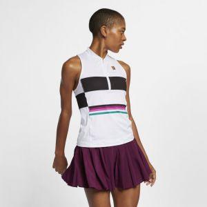 Nike Débardeur de tennis imprimé Court Power Slam pour Femme - Blanc - Taille L