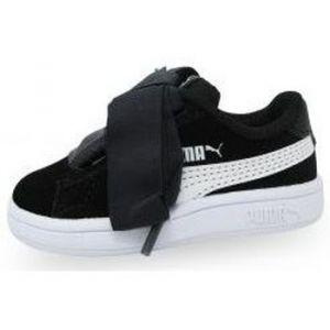 Puma Smash V2 Ribbon AC Inf, Sneakers Basses mixte bébé, Noir Black White, 25 EU