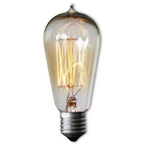 Wellindal Ampoule Vintage EDISON 13-CLEAR ST58 E27 40W