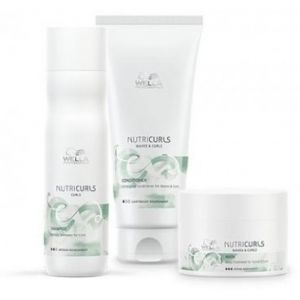 Wella Pack Nutricurls Cheveux Bouclés - Shampooing + Conditionneur + Masque