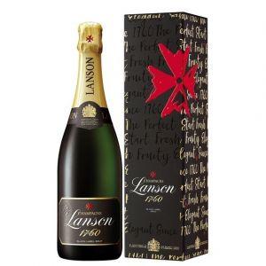 Les Vins Breban Champagne lanson black label brut sous étui 75 cl