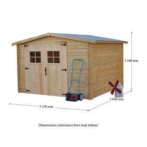 Foresta 2833.02 - Abri de jardin en bois 28 mm 7,86 m2 (montage inclus)