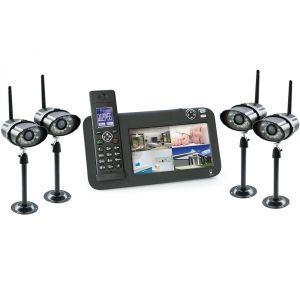 Scs sentinel 5875 - Kit vidéosurveillance 4 caméras + téléphone Dect