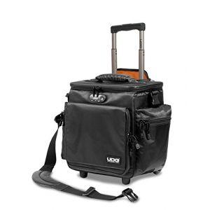 UDG GEAR U9981BL/OR Ultimate Sac Bandoulière À Roulettes Deluxe Noir, intérieur Orange