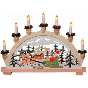 Profil lumineux LED Père Noël 7 lampes pour vitre