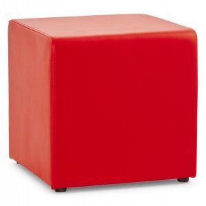 Kokoon Design Pouf rouge repose-pieds design RUBIK