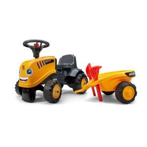 Falk Porteur tracteur JCB avec remorque